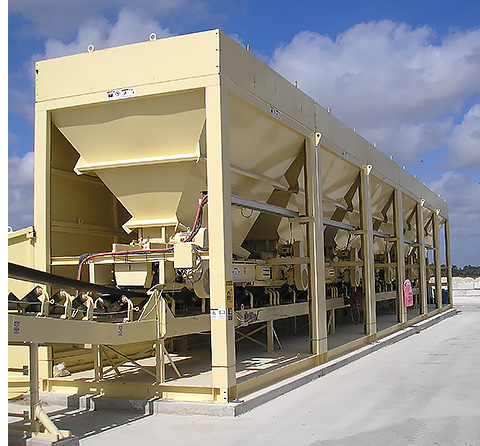 Aggregate Feed Bins